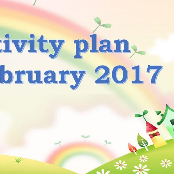 Activity plan February 2017